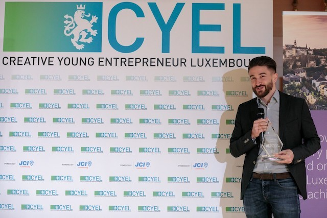 Tom Michels, pictured, is founder and CEO of Salonkee, a business for which he was awarded the CYEL prize on 25 November (Matic Zorman)
