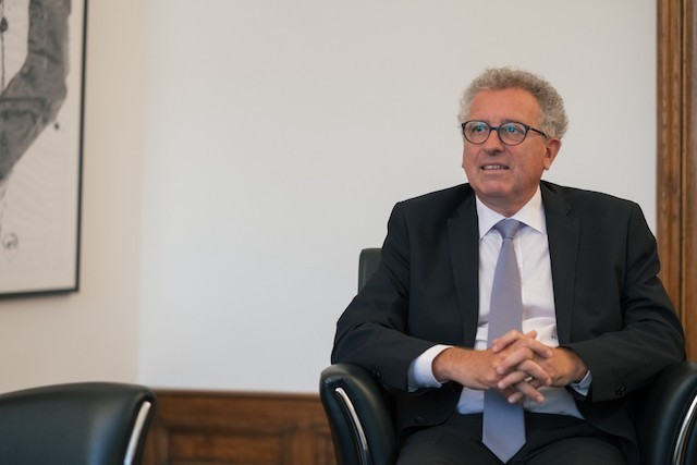 Finance minister Pierre Gramegna, pictured, is increasingly optimistic about the state's finances. Sébastian Goossens/archives
