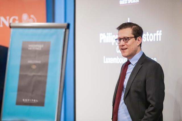 Deputy CEO of Luxembourg For Finance Philipp von Restorff was the keynote speaker at the Delano Breakfast Talk on Tuesday 26 November Jan Hanrion/Maison Moderne
