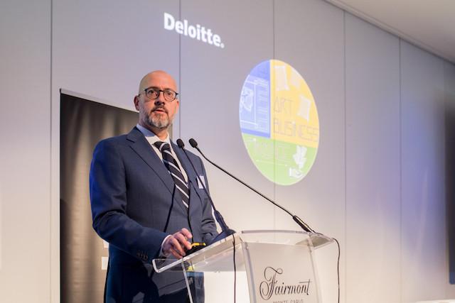 Adriano Picinati di Torcello, director and global art & finance coordinator at Deloitte, seen here during the Monday art & finance conference in Monte Carlo Deloitte Luxembourg