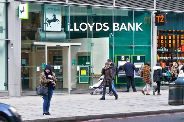 Illustration photo shows a Lloyds Bank branch in London, UK Shutterstock