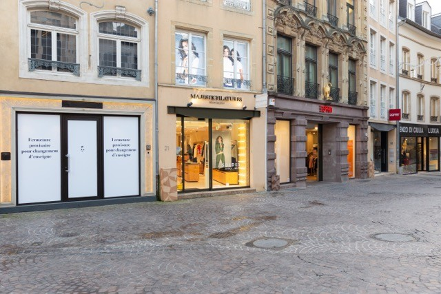 Shops in the centre of Luxembourg City. The new Kaaft Lokal platform allows customers to support their favourites stores during the coronavirus shutdown. Romain Gamba