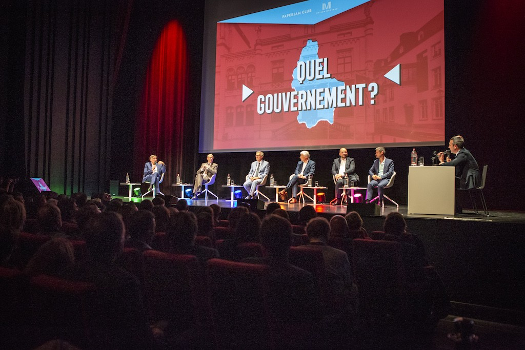 Six leading candidates took part in the Paperjam debate on Wednesday evening. Maison Moderne