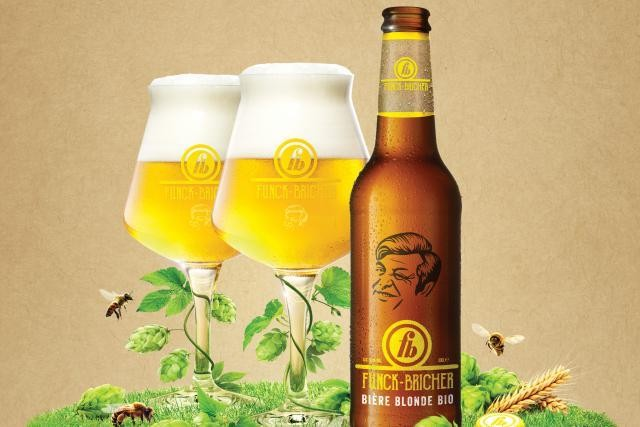 Brasserie Nationale cited its Funck-Bricher organic beer (pictured) and other newcomers, Battin Brune and Battin Pils, as part of the reason for its 2018 growth. Brasserie Nationale
