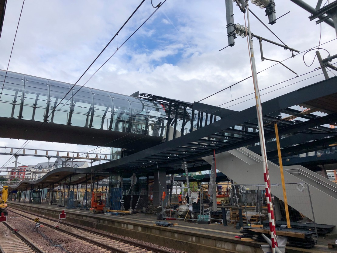 Only a few days left before the reopening of the northern footbridge on Wednesday 15 September. (Photo: Paperjam)