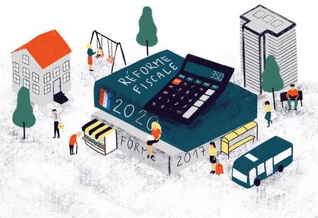 La réforme fiscale, un chantier colossal tant les attentes sont nombreuses. (Illustration: Ellen Withersova)