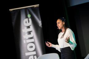 Avanti Sharma (Workshop4Me) spoke on behalf of millennials. (Photo: Nelson Coelho/Deloitte Luxembourg)