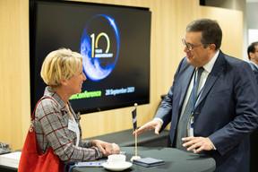 Michèle Berger with John Psaila. (Photo: Nelson Coelho/Deloitte Luxembourg)