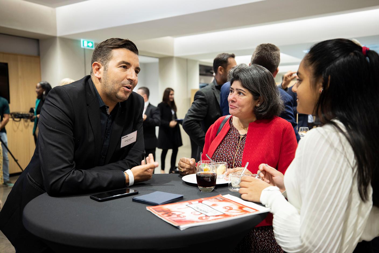 Entrepreneur Kamel Amroune (left). (Photo: Nelson Coelho/Deloitte Luxembourg)