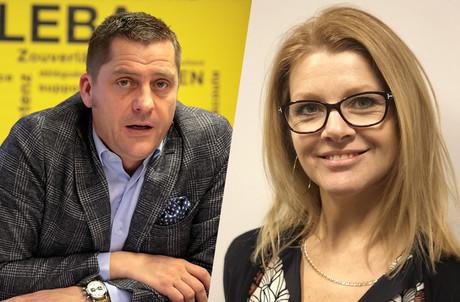 DelphineNicolay remplace LaurentMertz dans ses fonctions de secrétaire général du syndicat ALEBA. (Photo: ALEBA/Montage: Maison Moderne)