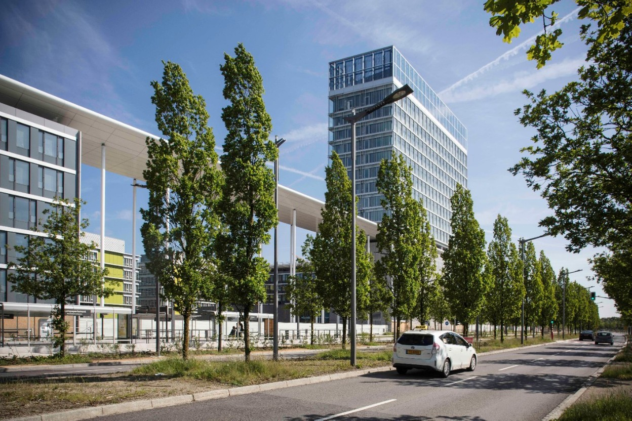 """The European Parliament's Konrad Adenauer 2 (KAD2) building in Kirchberg represented """"a significant percentage"""" of record-breaking office demand in the first half of 2021, according to the real estate firm CBRE Photo: Fonds Kirchberg"""