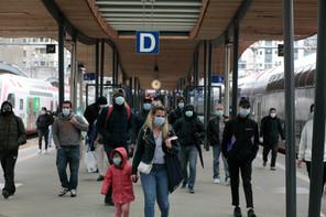 Si le nombre de voyageurs empruntant les trains des CFL était plus faible de 78% en mai2020 par rapport à mai2019, cette tendance a été largement rattrapée dès septembre, puisqu'il n'était plus qu'inférieur de 28% par rapport à l'année précédente. (Photo: Matic Zorman/Maison Moderne)