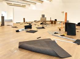 Vue de l'exposition Robert Morris.The Perceiving Body ,08.02.2020—01.06.2020,Mudam Luxembourg (© Photo : Rémi Villaggi|Mudam Luxembourg )
