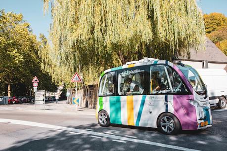 Le projet pilote de navettes autonomes se poursuit à Luxembourg et voit ses horaires étendus. (Photo: Maison Moderne)