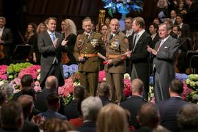 De gauche à droite: Xavier Bettel, Premier ministre, ministre d'État; S.A.R. le Grand-Duc; Fernand Etgen, président de la Chambre des députés. ((Photo: © SIP / Emmanuel Claude, tous droits réservés))