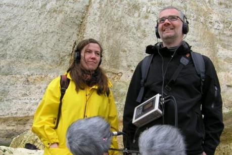 Katharina Bihler & Stefan Scheib, chasseurs de sons. (Photo: Pierre Metzinger)