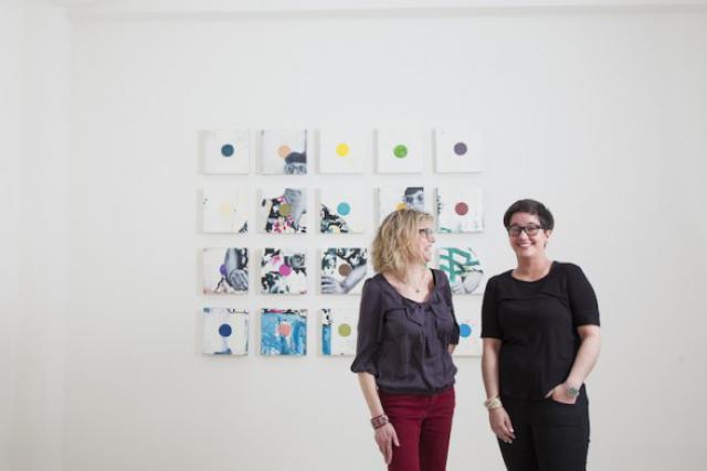 Fabienne Vandaele et Leonor Comin: un duo pour l'art et le design. (Photo: Julien Becker)