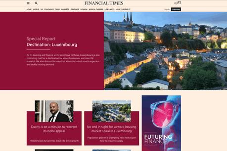 Le FT propose une vue sous plusieurs aspects du Luxembourg d'aujourd'hui. (Photo: Capture d'écran / Financial Times)