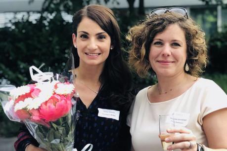 Marine Tarditi, counsel chez Allen & Overy, passe le relais de la présidence de Lilla à Mathilde Ostertag, partner chez GSK Luxembourg. (Photo : Lilla)