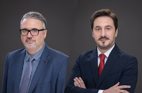 Le cabinet recrute des avocats experts en propriété intellectuelle: Erwin Sotiri (à gauche) et Ruben Mendes (à droite). (Photos: Bonn & Schmitt/Montage: Maison Moderne)