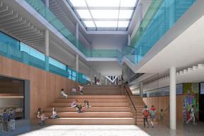 Un vaste atrium servira à la fois pour la circulation et pour les activités. ((Illustration: Janusch - Holweck Bingen Architectes))