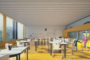 Les salles de classe bénéficieront d'un apport de lumière naturelle. ((Illustration: Janusch - Holweck Bingen Architectes))