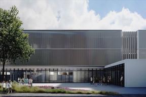 Le traitement des façades joue entre verticalité et horizontalité. ((Illustration: Janusch - Holweck Bingen Architectes))