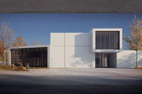 La façade du campus scolaire présente un jeu de volumes. ((Illustration: Janusch - Holweck Bingen Architectes))