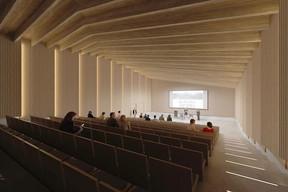 L'auditorium pourra accueillir près de 200 personnes. ((Illustration: Janusch - Holweck Bingen Architectes))