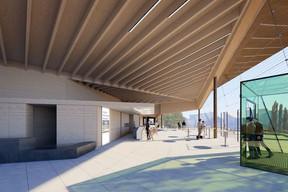 Une terrasse est aménagée pour profiter d'un espace extérieur couvert. ((Illustration: Janusch - Holweck Bingen Architectes))