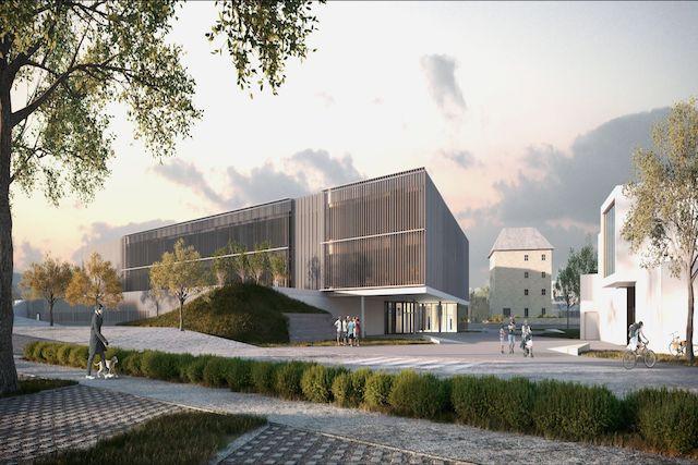 Le centre de Mersch va changer de visage avec le nouveau campus scolaire. (Illustration: Janusch - Holweck Bingen Architectes)