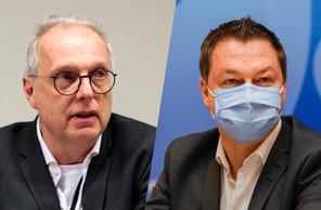 Le Dr Jean-ClaudeSchmit, directeur de la Santé, et le Dr ThomasDentzer de la Direction de la santé répondront en direct aux questions des spectateurs. (Photo: Maison Moderne)