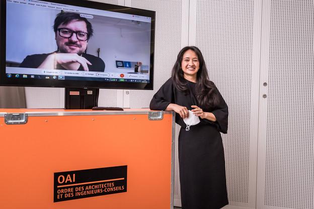Filip Markiewicz et Hisae Ikenaga sont les lauréats de l'appel à projets initié par l'OAI. (Photo: Nader Ghavami)