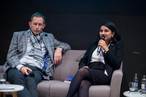 Pit Hentgen (Lalux) & Dr Megha Agrawal (Liroms) ((Photo: Arnaud de Villenfagne))