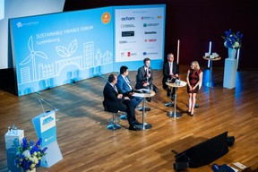 Corinne Molitor (Innpact), Damien Degros (ING Luxembourg), Constantine Rinn (UBS Luxembourg), Frank Krings (Deutsche Bank Luxembourg) et Kaiyu Yang (ICBC Luxembourg) ((Photo: LaLa La Photo, Keven Erickson, Krystyna Dul))