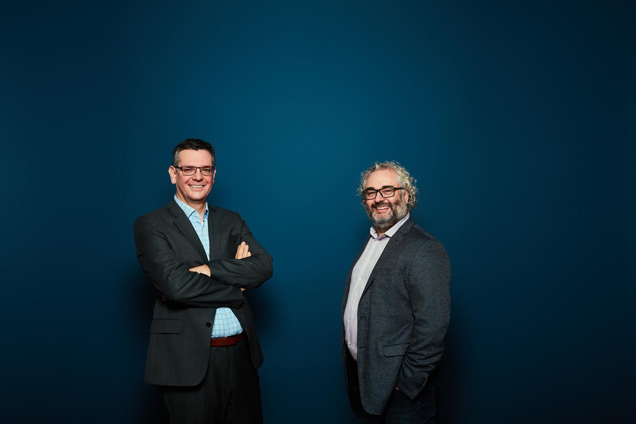«Nous sommes d'avis que la transformation digitale nous apporte un gain en efficacité, même si nous sommes conscients que cela impliquera des évolutions constantes.» Philippe Wetzel, COO, SECO Group (à gauche), et Mike Sergonne, Managing Partner, Nvision (à droite). Nvision