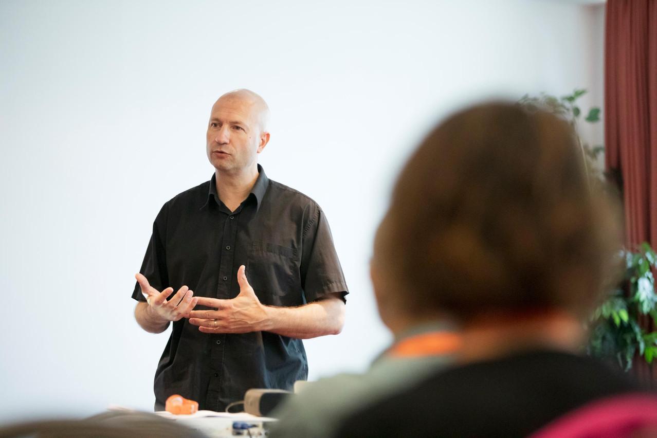 Arnaud Despinoy au Workshop Paperjam Club. (Photo: Jan Hanrion/Maison Moderne)