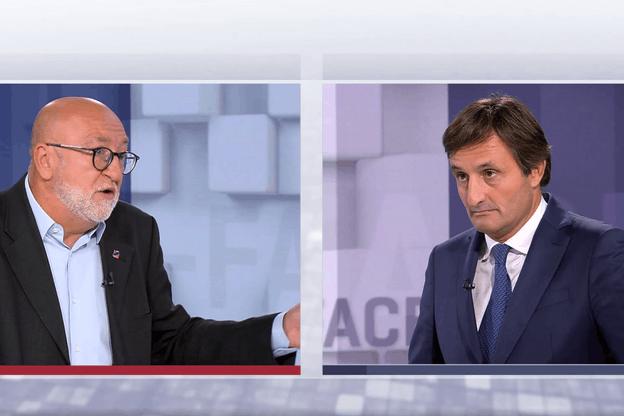 Durant près de 30 minutes, les deux présidents ont échangé leurs points de vue... sans laisser transparaître une ébauche de consensus. (Photo: Capture d'écran/RTL Télé Lëtzebuerg)