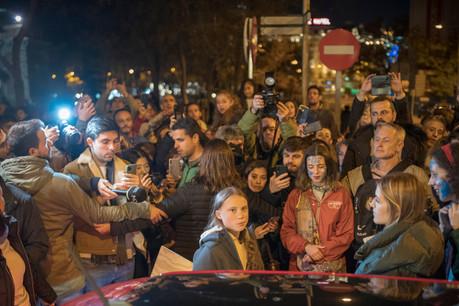 Vendredi, l'activiste suédoise GretaThunberg a dû être exfiltrée de la manifestation à Madrid pour des raisons de sécurité. Elle interviendra ce matin, au moment où commencent les débats ministériels. (Photo: Shutterstock)