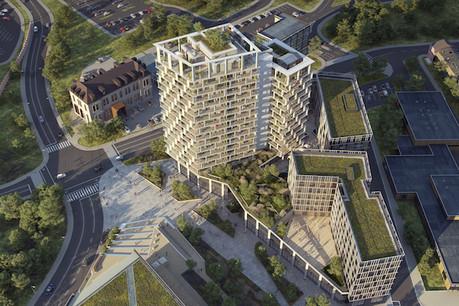 Le complexe Project Gravity sera en principe construit d'ici 2022. (Visuel: Ville de Differdange)