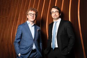 Laurent Schummer et Marc Mouton, Partners chez Arendt & Medernach. (Photo: Marc Blasius/Maison Moderne)