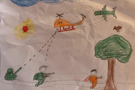 Quand les dessins des enfants renvoient en direct à la réalité. (Photo: DR)