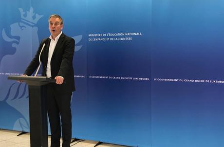 Claude Meisch a présenté la nouvelle formation Diplom+ dans les locaux du CNFPC d'Esch-sur-Alzette. (Photo: Paperjam.lu)