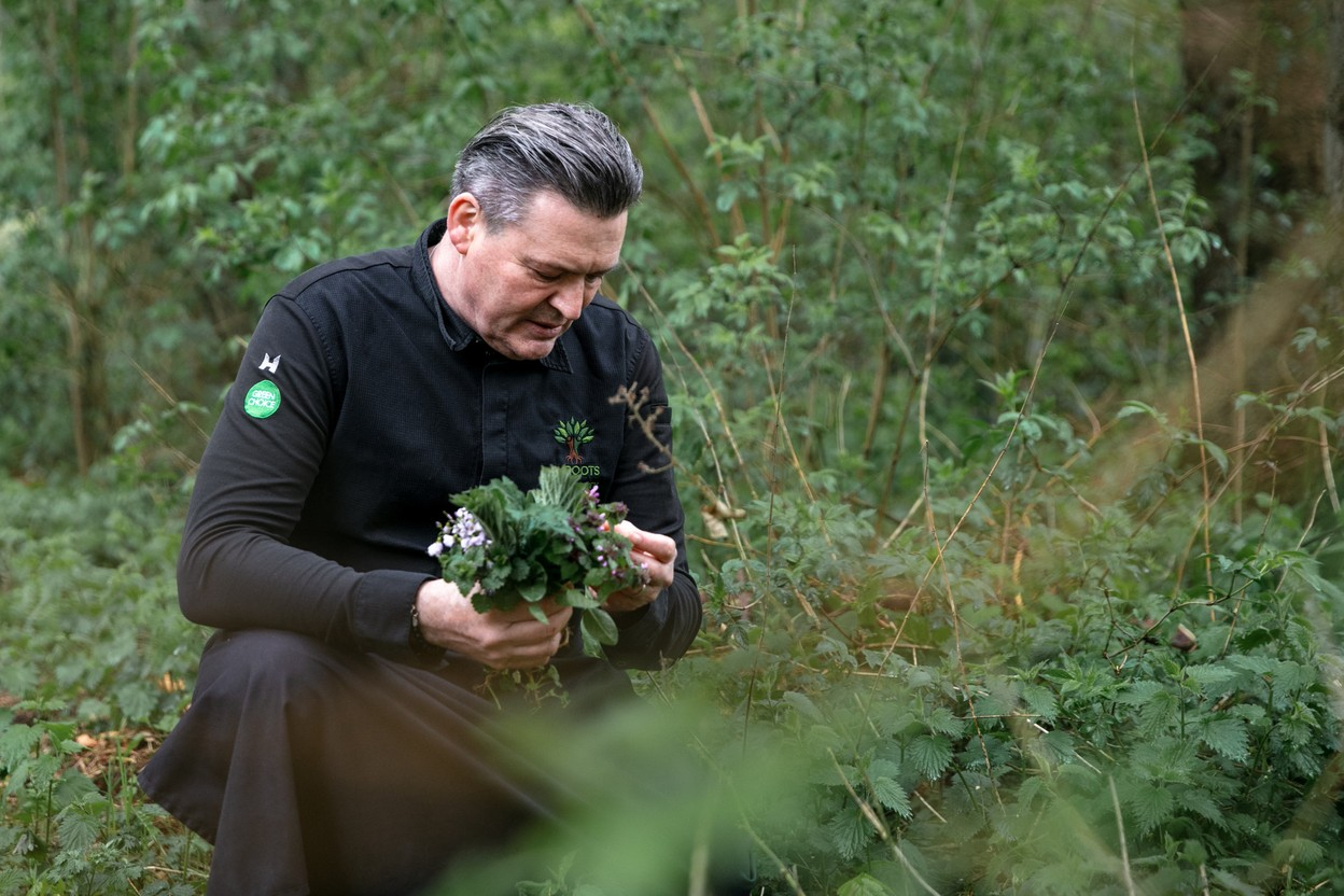 René Mathieu uses locally farmed products, but also goes foraging around the château. Photo: Romain Gamba