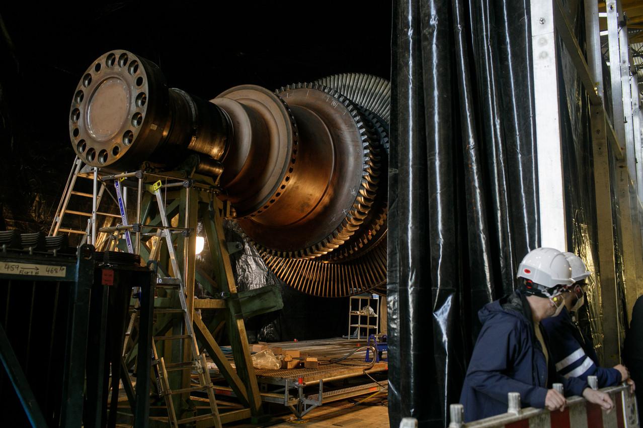 Une turbine en maintenance. (Photo: Matic Zorman / Maison Moderne)