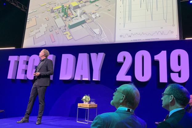 Le CEO du List, Thomas Kallstenius, en juin dernier, lors du Tech Day 2019, l'occasion de montrer toutes les technologies que développe l'institut de recherche. (Photo: Paperjam)