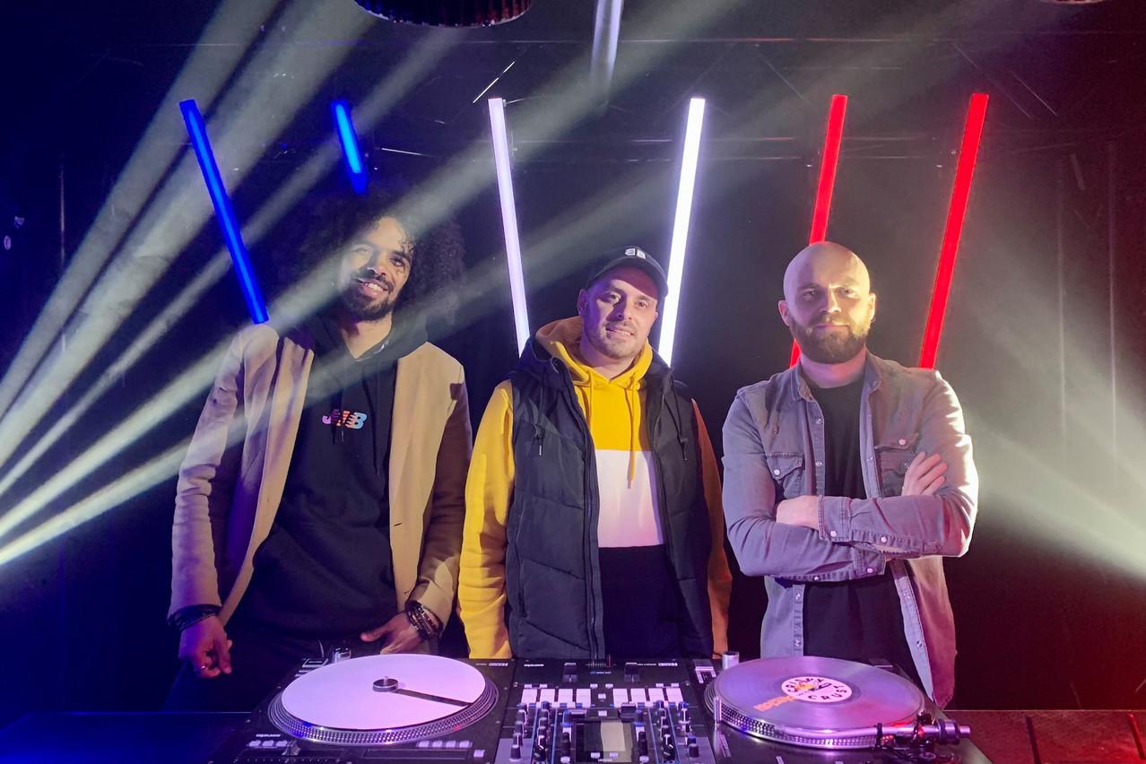 David Pascoal et les DJ Kroogz et Ben Leo trompent l'ennui en montant un nouveau projet créatif et déclinable depuis un studio spécialement créé pour l'occasion… (Photo: Maison Moderne)
