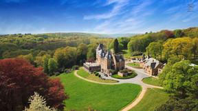 The Domaine de Ronchinne and its castle.  Domaine de Ronchinne