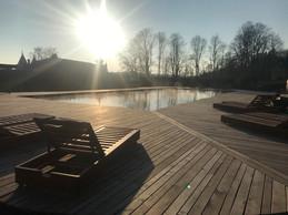 The site's swimming pool.  Domaine de Ronchinne