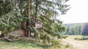 The perched hut.  Domaine de Ronchinne